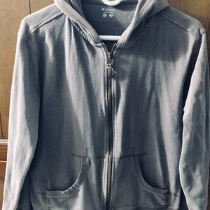 Columbia zip up brown hooded sweatshirt